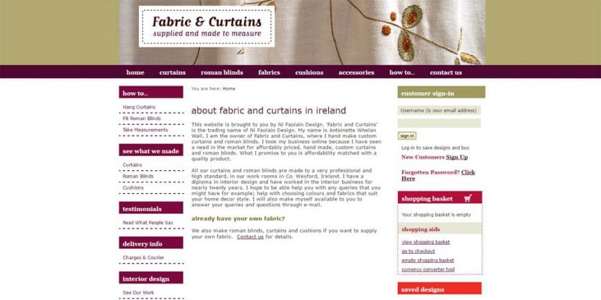 Case Study – Fabric & Curtains