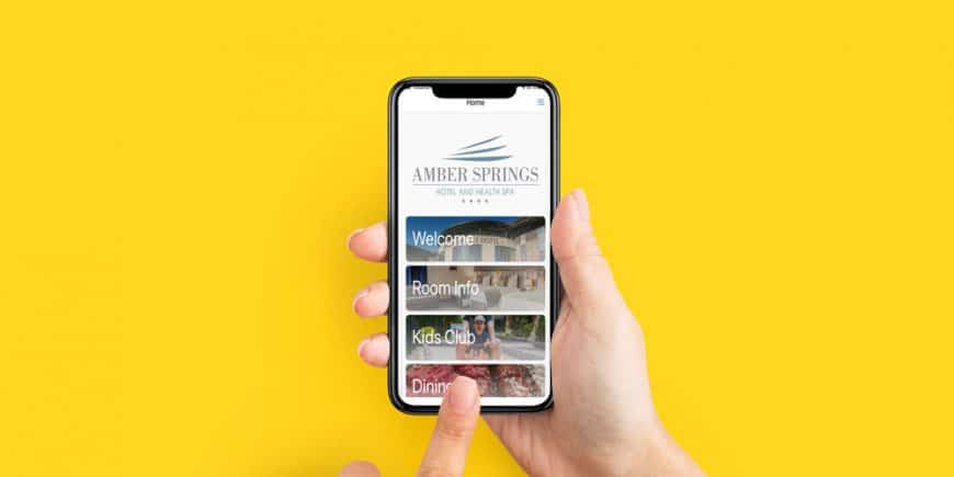 Amber Springs Hotel App Goes Live